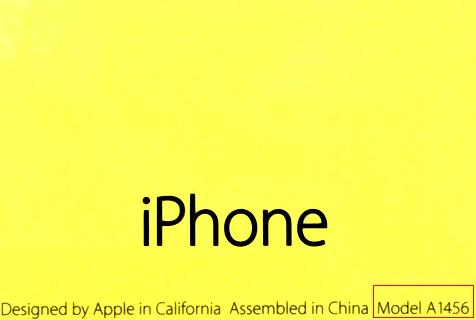 オーストラリア iPhone5C モデル番号