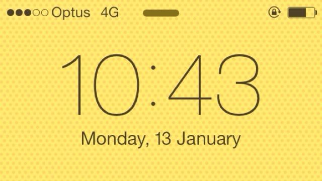 オーストラリア iPhone5C 4G回線